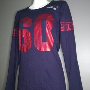 VS Pink Patriots Girl NFL Long Sleeve Tee …